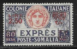 Somalia Scott # E6 Mint Hinged 1924 Espresso Surcharged, 1926, CV$17.50 - Somalia