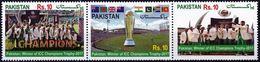 Pakistan 2017 Stamps Winner ICC Champions Trophy Cricket - Pakistan