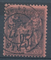 N° 91  NUANCE ET OBLITERATION5 - 1876-1898 Sage (Type II)