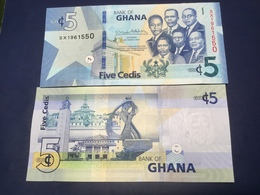 """GHANA  5 Cedis New Date  2019  Amended Design Pnew  """"Just Issued""""    UNC - Ghana"""