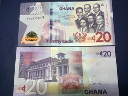 """GHANA  20 Cedis New Date  2019  Amended Design Pnew  """"Just Issued""""    UNC - Ghana"""