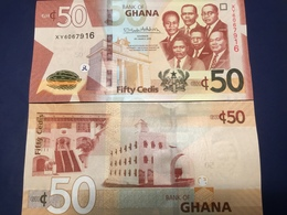 """GHANA  50 Cedis New Date  2019  Amended Design Pnew  """"Just Issued""""    UNC - Ghana"""