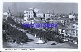 114794 CHILE SANTIAGO AVENUE BERNARDO O'HIGGINS POSTAL POSTCARD - Chile