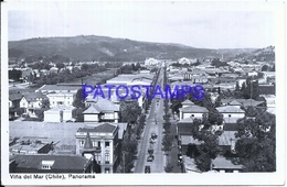 114803 CHILE VIÑA DEL MAR PLAZA VIEW PANORAMA POSTAL POSTCARD - Chile