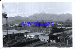114806 CHILE LOS ANDES PANORAMA POSTAL POSTCARD - Chile