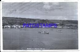 114819 CHILE PUERTO MONTT LLANQUIHUE VISTA PARCIAL BAHIA BREAK CIRCULATED TO ARGENTINA POSTAL POSTCARD - Chile