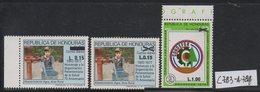 Honduras 1989 Issue MNH Scott C783 To C784 With 783a Surcharges - Honduras
