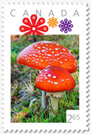 MUSHROOMS = FLY AGARIC = 2.65 = VERTICAL Picture Postage Canada 2019 [p19-06s01] - Paddestoelen