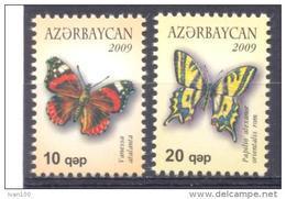 2009. Azerbaijan, Butterflies, 2v, Mint/** - Aserbaidschan
