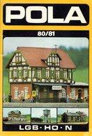 Catalogue POLA 1980/81 Modellbahnzubehör LGB HO N - Livres Et Magazines