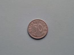 1942 E - 50 Reichspfennig / KM 96 ( Uncleaned Coin / For Grade, Please See Photo ) !! - 50 Reichspfennig