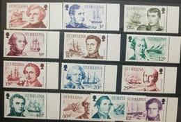 O) 1986 ST HELENA. EXPLORES - JAMES ROSS-ROBERT FITZROY-ADAM JOHANN - KRUSENSTERN -WILLIAM BLIGH - OTTO VON KOTZEBUE -PH - Stamps