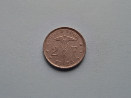 1924 - 2 Frank / KM 92 ( NL ) > ( Uncleaned Coin / For Grade, Please See Photo ) ! - 1909-1934: Albert I