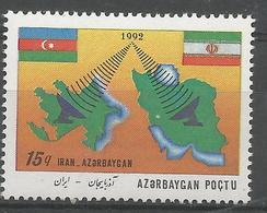 AZ 1992 DEFINITIVE, ASERBEDIAN, 1 X 1v, MNH - Aserbaidschan