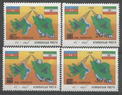 AZ 1992 DEFINITIVE, ASERBEDIAN, 1 X 4v, MNH - Aserbaidschan
