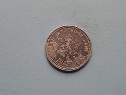1 POFFER > 200 Jaar NOORD BRABANT ( 30 Mm. - 9.3 Gr. ) > ( Uncleaned Coin / For Grade, Please See Photo ) ! - Souvenirmunten (elongated Coins)