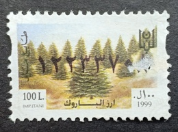 EI - Lebanon 1999 Fiscal Revebue Stamp 100L Cedars Of Barouk - Líbano