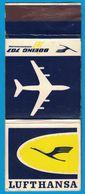 POCHETTE SANS ALLUMETTE LUFTHANSA BOEING 707 INTERNATIONAL - Boites D'allumettes