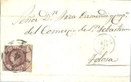 CARTA 1863  CORUÑA - 1850-68 Kingdom: Isabella II