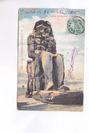 CPA THEBES, LE COLOSSE  En 1905!    (voir Timbres Egypte) - Egypt