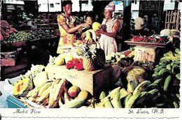 Antilles    SAINTE  LUCIA  . MARKET  PLACE - Sainte-Lucie