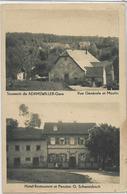 67 ADAMSWILLER . Gare , Moulin , H-Restaurant G Schwarzbach , édit : Gerner Sarreguemines ,  écrite En 1909 , état Extra - France