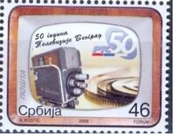 SRB 2008-257 50A°BEOGRAD TV, SERBIA, 1 X 1v, MNH - Serbie