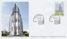 Enveloppe   FDC  1er   Jour   FRANCE   Eglise  NOTRE - DAME   ROYAN   2011 - 2010-....