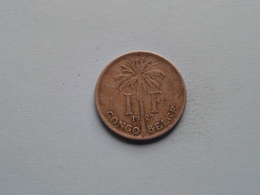 1927 - 1 Franc - KM 20 (FR) ( For Grade, Please See Photo ) ! - Congo (Belge) & Ruanda-Urundi