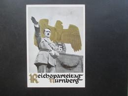 3.Reich Propagandakarte 1935 Reichsparteitag Der NSDAP Nürnberg Schreiber Berichtet Vom Parteitag.Hitler Vor Reichsadler - Briefe U. Dokumente