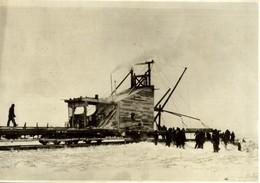 Hudson Bay Railway TRACK LAYING CANADA   23*16CM Fonds Victor FORBIN 1864-1947 - Trenes