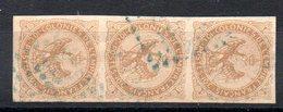 COLONIES GENERALES - Aigle Impérial YT N° 3 Bande X3 - Cote: 40,00 € - Aigle Impérial