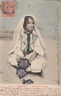 Maroc Yvert 12 Cachet TANGER 1906 Sur Carte Postale Tangiers Moorish Woman Pour Monte Carlo Monaco - Storia Postale