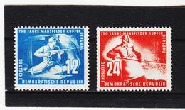 YZO326 DDR 1950 MICHL 273/74 ** Postfrisch ZÄHNUNG SIEHE ABBILDUNG - DDR