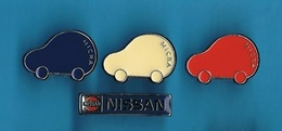 4 PIN'S //  ** NISSAN / MICRA ** - Renault