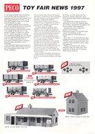 Brochure PECO 1997 Toy Fair News N HO/OO Gauge RATIO PARKSIDE DUNDAS - Livres Et Magazines
