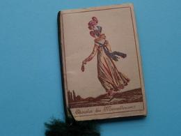 1917 CHOCOLAT Des MERVEILLEUSES Paris  Petit Calendrier / Agenda ( Zie/voir Photo Pour/voor Detail ) Complet ! - Tamaño Pequeño : 1901-20
