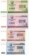 North Korea  2003 Treasury Notes 4V - Corea Del Nord