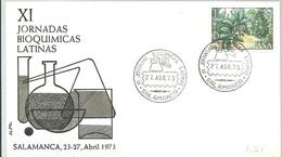 POSTMARKET 1973  ESPAÑA   SALAMANCA - Química