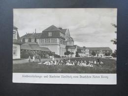 3.Reich Echtfoto AK Kindererholungs Und Kurheim Nordholz Vom Deutschen Roten Kreuz / DRK Nordholz Bei Cuxhaven - Croce Rossa