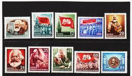 YZO339 DDR 1953 MICHL 344/53 ** Postfrisch ZÄHNUNG SIEHE ABBILDUNG - DDR