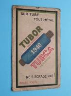 1940 ( TUBOR - 1940 - TUBCA > 100 % Belge ) Calendrier ( Gekreukt / Vuil > Zie/voir Photo Pour/voor Detail ) ! - Calendriers