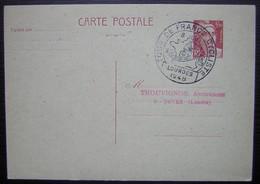 Saint Sever Landes Thouvignon Lourdes 1948 Tour De France Cycliste, Cachet Sur Entier Postal - Poststempel (Briefe)