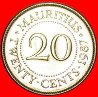 + PORTRAIT (1987-2016): MAURITIUS ★ 20 CENTS 1987 MINT LUSTER! LOW START ★ NO RESERVE! - Mauritius