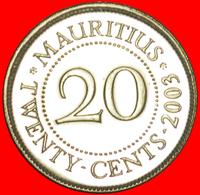 + PORTRAIT (1987-2016): MAURITIUS ★ 20 CENTS 2003 MINT LUSTER! LOW START ★ NO RESERVE! - Mauritius