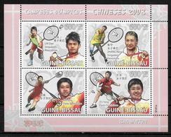 GUINEE BISSAU Feuillet  N° 2726/29  * * ( Cote 13e ) Jo 2008 Badminton - Badminton