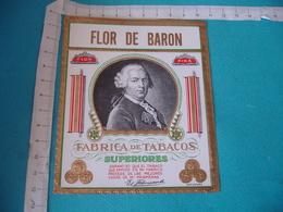 Flor De Baron Medaille Etiquette Boite Cigare Cigares Gaufree - Etiquettes