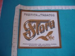 La Flora Etiquette Boite Cigare Cigares Gaufree - Etiquettes