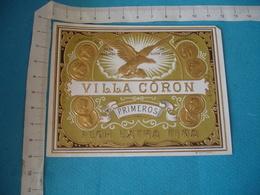 Vila Coron Aigle Medaille Etiquette Boite Cigare Cigares Gaufree - Etiquettes