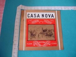 Casa Nova Port Voilier Etiquette Boite Cigare Cigares Gaufree - Etiquettes